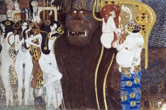 """Beethoven Frieze"" (detail) by Gustav Klimt"
