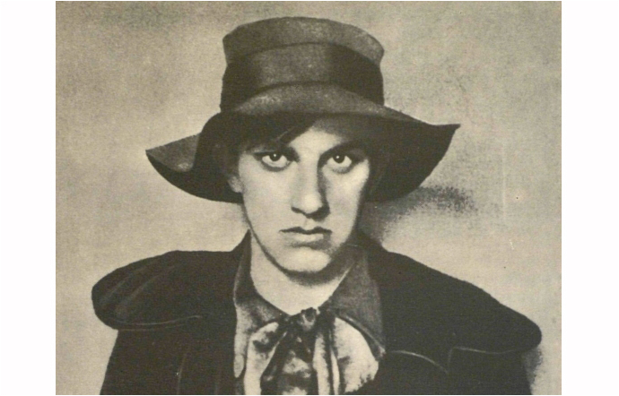 Mayakovsky in 1910 at the age of seventeen.