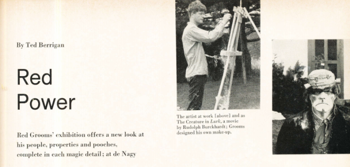 Berrigan's article on Red Grooms from the December, 1966 issue of ARTNews