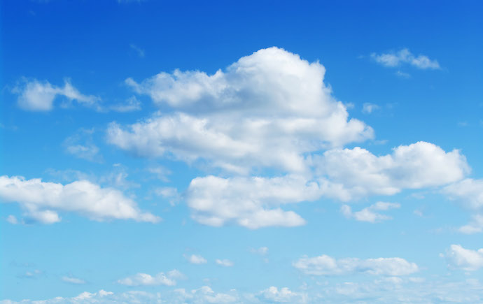 great image of a perfect fluffy cloudy blue sky