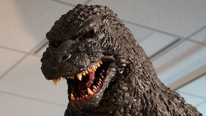 Godzilla(1995,repaint)_Head_at_Abeno_Harukas_Art_Museum_August_31,_2014